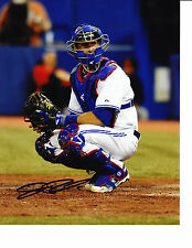 Toronto Blue Jays JP Arencibia 2012 Catching Signed MLB Baseball 8x10 Photo