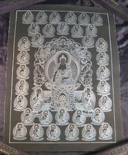 Pure Silver Shakyamuni  Buddha Thangka Thanka Painting Nepal Himalayan art