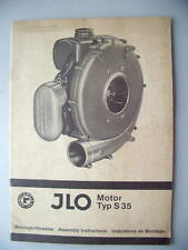 JLO Motor Typ S 35 Montage-Hinweise