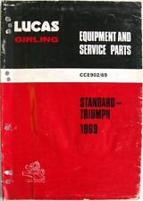 Lucas TRIUMPH/STANDARD Electrics - Car Equipment & Spare Parts - 1969 -CCE902/69