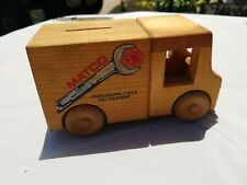 Vintage Matco Promotoy Wooden Truck Bank Missing Plug