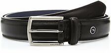 NEW NAUTICA MENS BLACK SMOOTH LEATHER BELT 11NU02X030 001 DOUBLE STITCHED SAVE!!