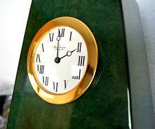 Grande Pendule À Poser Quartz HOUR LAVIGNE - Plaqué Or -  Bois Laqué Vert / Noir