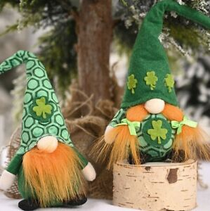 Irish Leprechaun Gonk Gnome Mr & Mrs Ornament Gift Children St Patricks Day