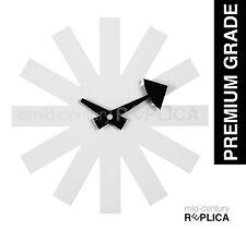GEORGE NELSON REPLICA MODERN RETRO ASTERISK CLOCK - WHITE - RRP $95 **PREMIUM**