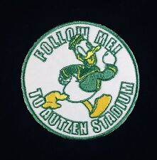 """UO Oregon Ducks Vintage Embroidered Iron On Patch (Old Stock) 3"""" x 3"""" A1 NICE"""