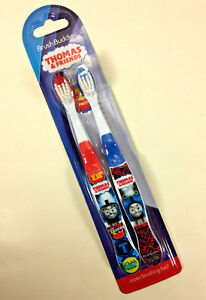 New THOMAS & FRIENDS Brush Buddies Soft KIDS TOOTHBRUSH 2-PACK Oral Care Gift