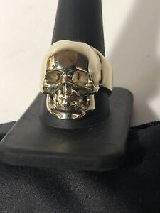 10K Gold Skull Ring Size 11