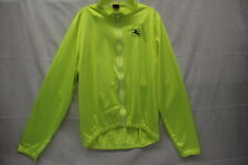 GIORDANA Bright Yellow Cycling Zip Up, Long Sleeve Top, Size XL, Italy-B11