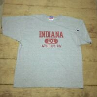 Vtg 90s Champion Indiana Hoosiers Athletics Logo Spellout Mens XL Vintage Gray