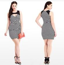 Plus-size Cocktail Black and White Dress