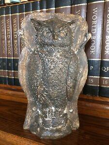 Primitive Tin Style Owl Silver Resin Chocolate Mold Rustic Halloween Home Decor