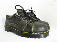 Dr. Martens AirWair MELLOWS Unisex Black Leather Work Boots Size 7