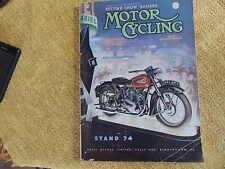 Show number 1951 The MotorCycle BSA Ariel Lucas Miller Calthorpe James Norton