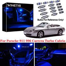 9x Ultra Blue Interior LED Kit Package For Porsche 911 996 Carrera Turbo Cabrio