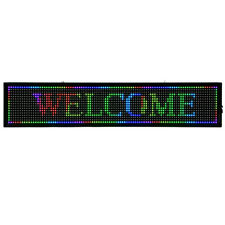 """40x8"""" Full Color P10 Led Sign Scrolling Message Display Business Signs+Wifi Set"""