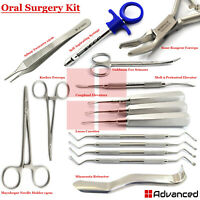 15Pcs Dental Oral Surgery Kit Tooth Extracting Extraction Periosteal Elevators