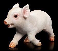 Gartenfigur - Ferkel rennt - Baby Schweinchen Wohn Balkon Gartendeko