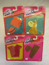 4 x Mattel Barbie 1983 Fashion Extras #4906 4914 4910 4915 NRFB