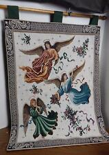 "26"" X 36"" Angels Tapestry Fabric Wall Hanging EUC"