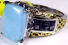 Arizona Sleeping Beauty Turquoise, Catalina Iolite Ring (Size 8) TGW 9.08 Cts