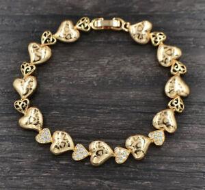 18K Gold Filled Imitation Diamonds Sun Flower  Bracelet