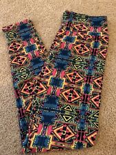 LuLaRoe Leggings OS Aztec South Western NWT One Size Pink Blue Yellow Green