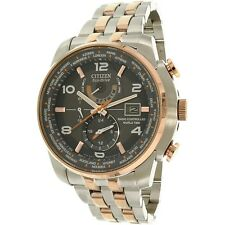 Citizen Men's AT9016-56H Silver Stainless-Steel Eco-Drive Dress Watch