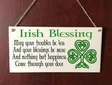 Hand Made DELUXE Style Plaque Irish Blessing Gift Sign Chic Present
