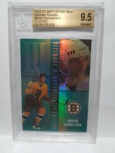 02-03 BAP Ultimate Martin Samuelsson /250 Rookie BGS 9.5 GEM MINT Bruins 2002