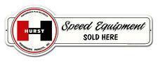 HURST Shifter Speed Equipment Sold Here Plasma Cut Retro Sign Blechschild Schild