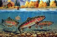 "Cynthie Fisher ""Autumn Rainbows"" Fishing Print 12"" x 7.75"""