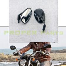 Motorcycle Handle Bar End Rearview Side Mirror Chopper Bobber Cafe Racer 10mm