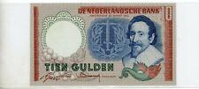 Bank Note 10 Gulden, Netherlands, Hugo de Groot, 1953 NICE
