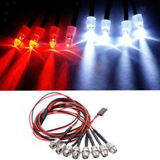 4x led scheinwerfer rücklicht für wpl 1//16 rc auto pick-up lkw diy