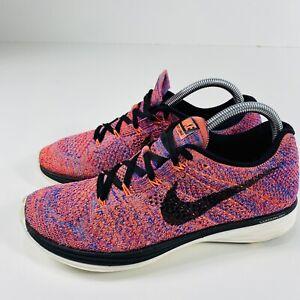 Nike Flyknit Lunar 3 Women's Size 9  Running Shoes Pink 698182-801