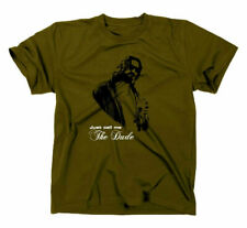The Big Lebowski The Dude T-Shirt Kult Funshirt Fun Fanshirt Fan Abides