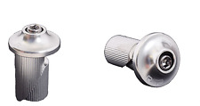 Raleigh RSP Bike Cycling Handlebar Alloy Bar End Caps Plugs Savers Silver Pair