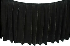 Box pleated stage skirt 120cm drop with velcro /price per meter