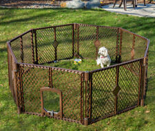 Large Dog Pet Playpen Indoor Outdoor Exercise Pen Play Yard Safety Gate House 26
