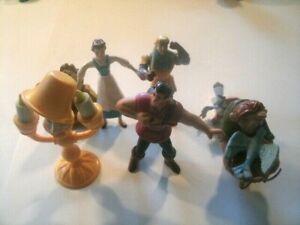 Disney Toy Lot Multi Movie Set of 7 Toys Hunch Back Bell Zazu and More