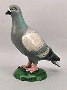 9973698 Sculpture Figure Iron Metal Pigeon Colourful Door Stopper H32cm
