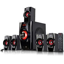 5.1 CHANNEL BeFree SOUND BFS-410  SURROUND SOUND BLUETOOTH SPEAKER SYSTEM - RED