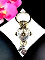 FABULOUS SIGNED BRIGHTON TWO-TONE FINISH DECORATED WONDER DREAMS DANGLE KEY RING