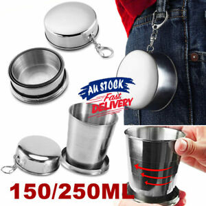 Portable Stainless Steel Telescopic Folding Cup Collapsible Travel Camping Cup