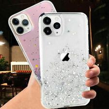 Cover case trasparente glitter silicone per Apple Iphone 11 Pro XS Max XR X 8 7
