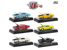 DETROIT MUSCLE, 6 CARS SET RELEASE 42 IN CASES 1/64 DIECAST M2 MACHINES 32600-42