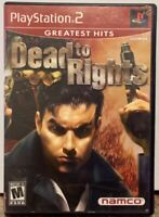 """""""Dead To Rights"""" Playstation 2 Greatest Hits PS2 CIB Namco 2002"""