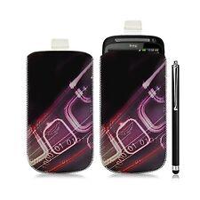 Housse coque étui pochette pour HTC Desire S avec motif HF07 + Stylet luxe