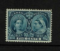 Canada SC# 54, MInt Hinged, two shallow center thins - S8500